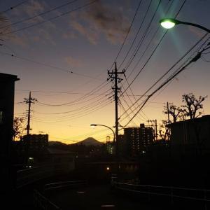 ●2020年・今年最後の夕日&富士山
