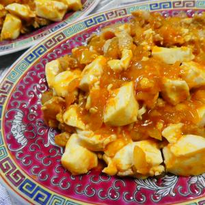 ケチャップ+ラー油で麻婆豆腐!