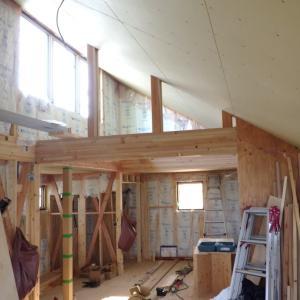 福島飯坂・子どもの育ちを見守る家、内部造作始まります。