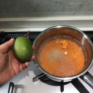 毎日青マンゴー料理。
