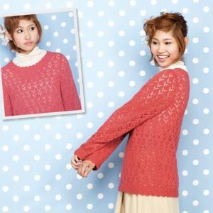 無料編み図プル☆かぎ針編みベビーアルパカ100%のエレガントなセーター