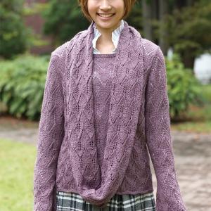 無料編み図セーター☆ベビーアルパカ毛糸でおそろいスヌード