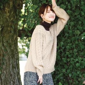 無料編み図セーター☆knit ange配布開始☆毎年人気のアラン模様