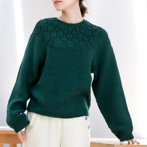 無料編み図プル☆シンプルで洗練された雰囲気のセーター