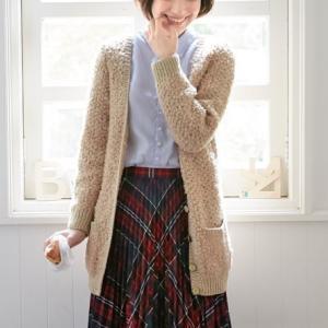 棒針編み無料レシピ☆うさぎみないな♪ロングカーディガン