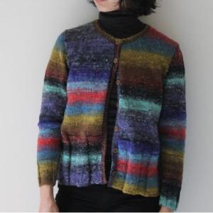 カーデ手編みセット☆野呂英作シルクガーデンファインで編むカーディガン