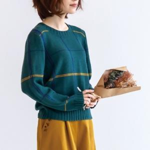 無料編み図プル☆革命的手編み!?と思えないスタイリッシュなセーター