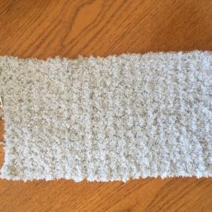 100均の毛糸『もこCAFE(モコカフェ)』を使ってかぎ針編みのスヌード☆1玉編み切りました