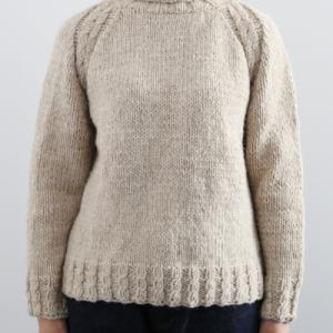 セーター編み図プレゼント☆オフタートルネック棒針編みレディースプル