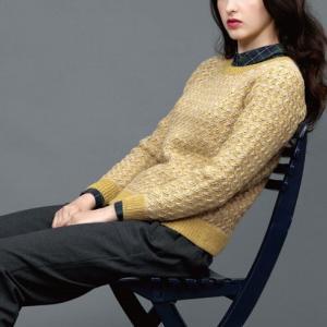 無料編み図☆ハンサムウーマンになれちゃう!デザインセーター
