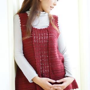 無料編み図チュニックベスト☆スリーシーズン使える♪合わせやすいかぎ針編みのチュニックベスト