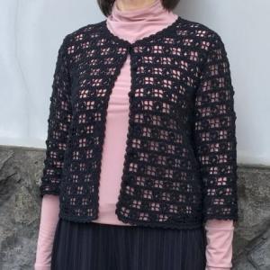 カーデとショール手編みセット☆七分袖カーディガンとショールの編み物キット