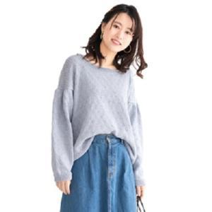 無料編み図プル☆大人のパフスリーブセーター