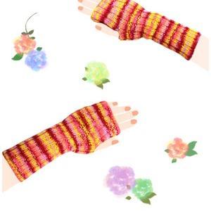 無料編み図☆初心者さんにも!ぐるぐる編むだけ♪可愛いアームウォーマー