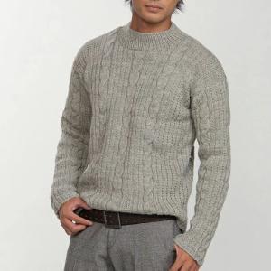 無料編み図☆在庫限り特別価格♪のお糸でオーソドックスなメンズセーター