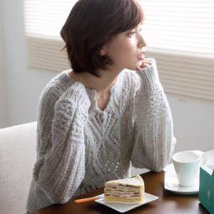 無料編み図プル☆2通りの着こなしOKの優秀ニット♪ドルマンセーター