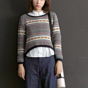 無料編み図☆いつかは編みたい!北欧風☆総柄編みこみセーター