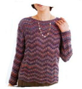 編み物キット☆編んでるだけで!ジグザグ模様のプルオーバー