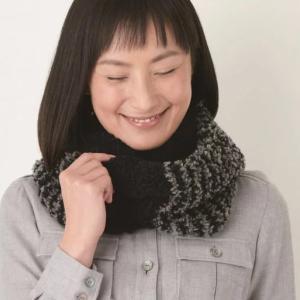 スヌードの手編みセット☆手触りバツグン♪ふわふわのバイカラースヌード