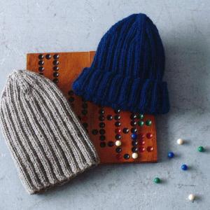 手編みセット☆棒針編み初心者さん向け!二目ゴム編みのニット帽