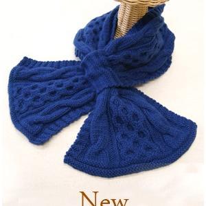 無料編み図☆メリノウール100%のお糸で落ちないマフラー