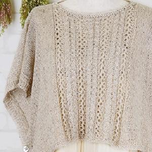 編み物キット☆まっすぐ編むだけなのにキュート!ポンチョ