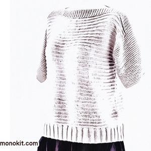 無料編み図☆スタイリッシュな半袖サマーセーター