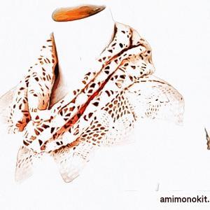 無料編み図☆花びらのようにふわり♪三角モチーフのストール