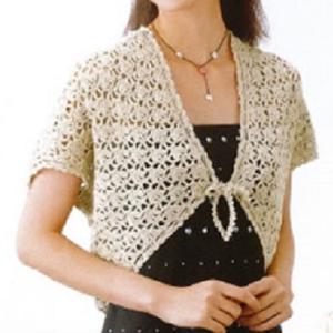 手編みセット☆ピュアオーガニックのお糸で編むボレロ風カーディガン