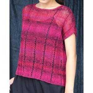 プルとショールの手編みセット☆縦ラインが魅力のゆったりプルとショールお揃いコーデ