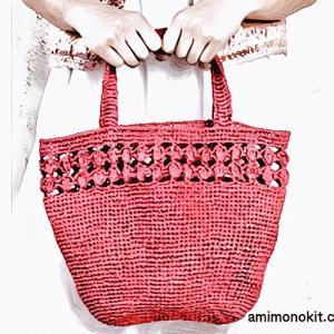 無料編み図☆今おすすめ!デイリーに使える3玉で編めちやう♪バッグ