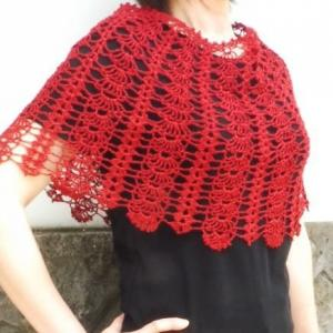 手編みセット☆シルク混の上質糸でふわりと羽織れるポンチョ