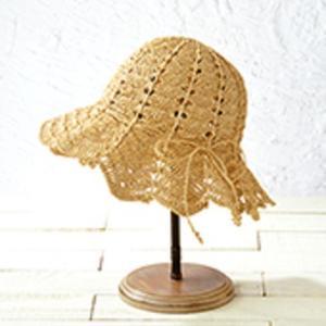 手編みセット帽子☆たたんでもOK!チューリップハット