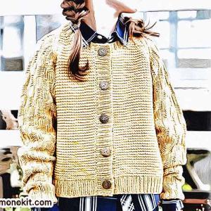 無料編み図☆キッズに生意気コーデ♪動きやすいラグラン袖のカーディガン