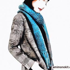 マフラー手編みセット☆初心者さん向け丁寧なレッスンムービーでわかりやすい