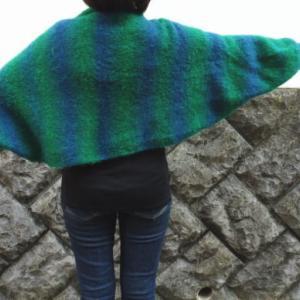 手編みセット☆ストレッチヤーンでひらり♪ふわっと軽いマーガレット