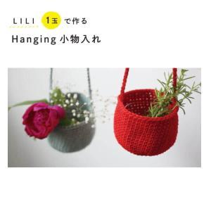 手編みセット☆かぎ針編み初心者さんでも!1玉で編めちやうハンギング小物入れ