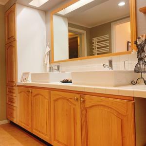 理想の使い勝手とデザインの造作洗面台