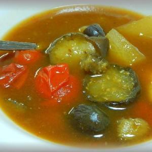 茄子のスープカレー~秋だからね!
