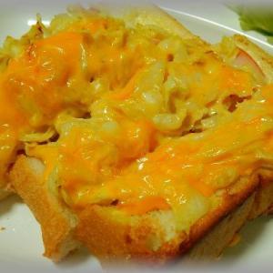 カレーキャベツチェダーチーズトースト