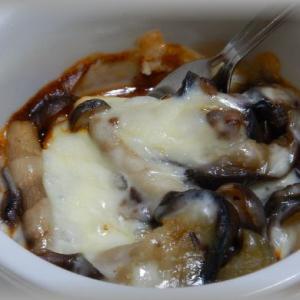 麻婆茄子チーズ焼き~辛味と旨み