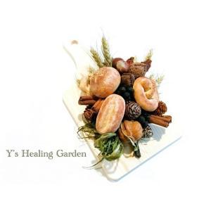 木の実と粘土パンのアレンジ