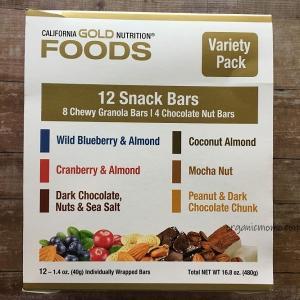 iHerbで一番美味しいと思う、California Gold Nutritionのプロテインスナックナッツバー