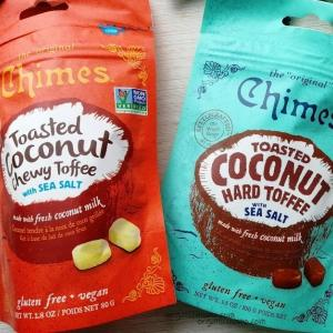 Chimesのこんがりココナッツのハードトフィ&チューイトフィー海塩入り