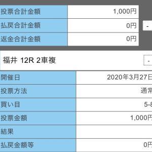 3月27日の結果!!ウィナーズカップ!!