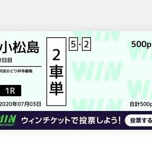 7月3日の狙い打ち!!小松島記念!