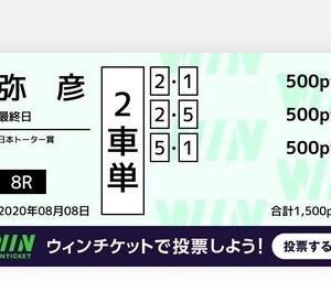 8月8日の狙い打ち!!弥彦競輪!!富山競輪!