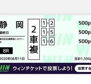 8月11日の結果!!静岡競輪!広島競輪!青森競輪!オートレースグランプリ!!