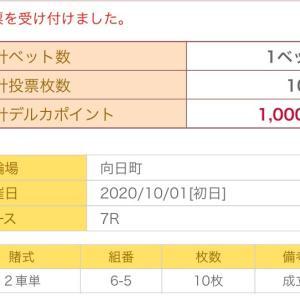 10月1日の狙い打ち!!向日町競輪!熊本記念!取手競輪!函館競輪!
