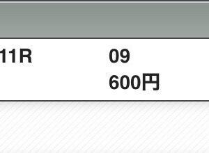 10月11日の結果!!毎日王冠!!
